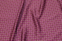 Red-purple microsatin with small pattern