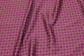 Red-purple microsatin with small pattern.