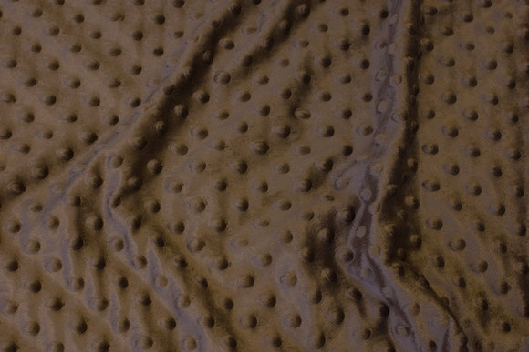 Supersoft dirt-colored fleece with elevated dots