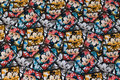 Fun mickey mouse cotton-jersey with ca. 5 cm squares.