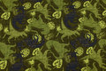 Green cotton-jersey with 5-6 cm dinosaurs.