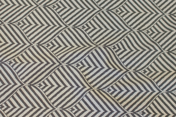 Elegant jacquard-woven table-cloth-fabric in black and light with ca. 10 cm leaf-pattern