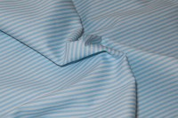 White-light blue cotton-poplin with 2 mm stripes