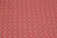 Wine-red cotton satin with classic pattern
