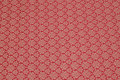 Wine-red cotton satin with classic pattern.