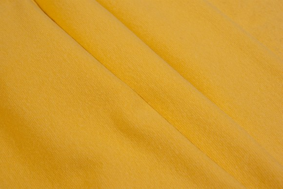 Yellow rib-fabric in classic good quality