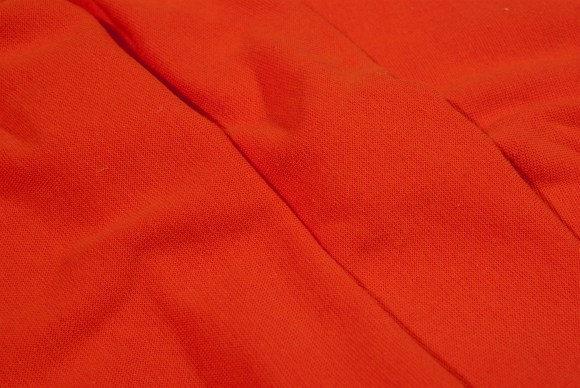 Orange rib-fabric in classic good quality