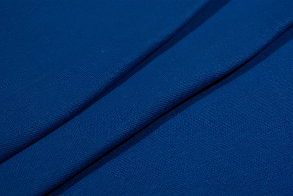 Coboltblue rib-fabric in classic good quality