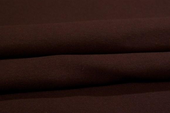 Dark brown rib-fabric in classic good quality
