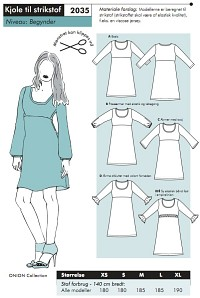 Onion 2035. Dress for knit fabric.