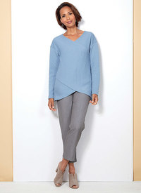 Butterick 6526. Crossover Knit Top and Side-Seam-Detail Pants.