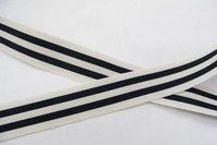 Grossgrain ribbon white/black 2,5cm