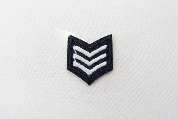 Army sergant patch black/white 1,5x1,5cm