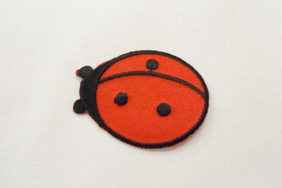Ladybug iron-on patch 3,5x5cm