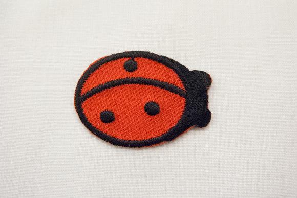 Ladybug iron-on patch 2x3cm