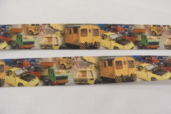 Elastic with cars&trucks 2,9cm