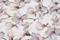 Helt lightweight, white polyestercrepe with magnolia