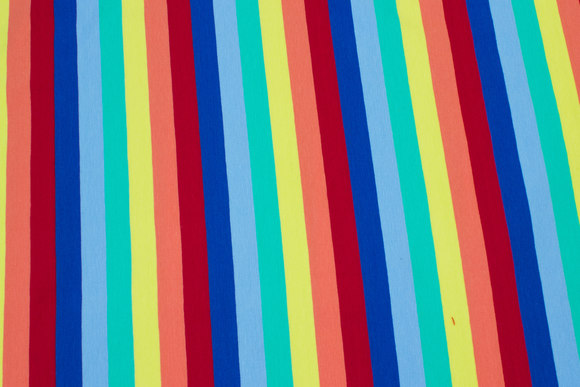 Across-striped cotton-jersey in multicolors