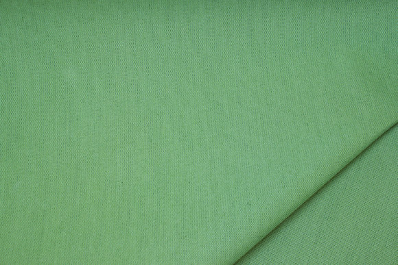Speckled apple-green awning fabric