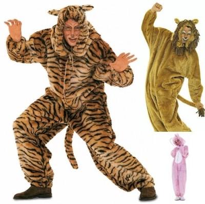 Costumesuit, lion, bear, bunny