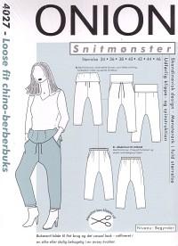 Onion pattern: Loose fit chino-berber pants