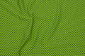 Lime-green cotton-jersey with dark navy mini-dots