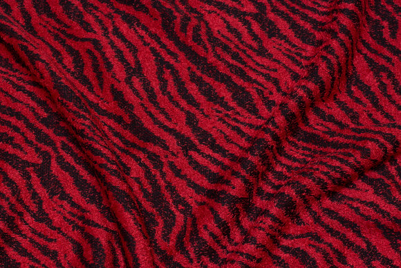 Black and red heavy-knit