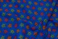 Cobolt-blue fleece with stars on ca. 3 cm.