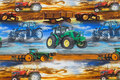 Cotton-jersey with tractors