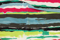 Across-striped viscosejersey in green and pink nuances