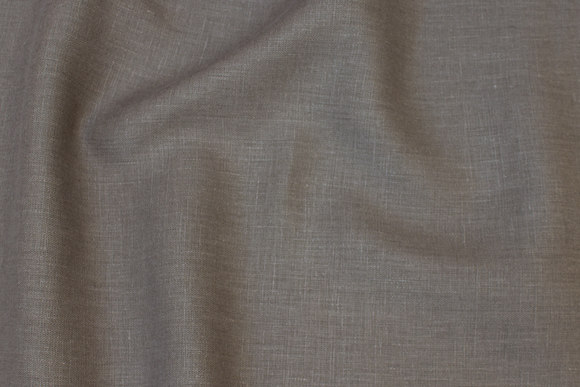 Khaki-colored pure linen