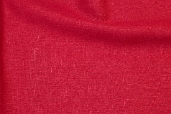 Winter-red pure linen