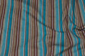 Across-striped brown and turqoise, stretch along fabric