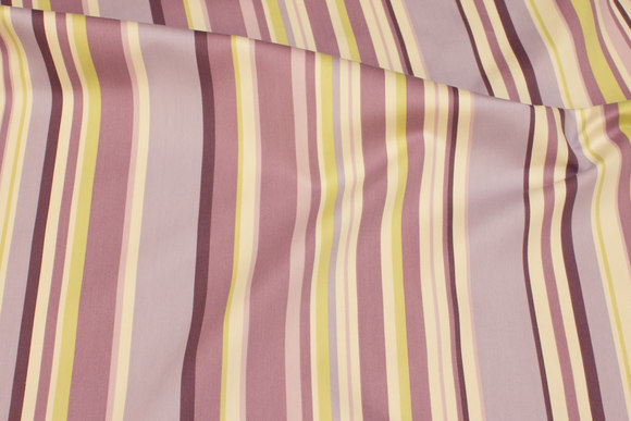 Light-purple cotton-polyester satin with stripes lengthwise