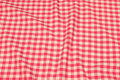 Checked cotton in pink and white . 9,24