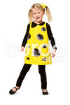Cute and funny costumes for the kids, with room enough to wear warm clothes underneath. A stiff yoke and boning tape create the required stability for costumes A and B. The holes backed with special film give dress C added interest. Tip: The same costumes can also be made in sizes for Mama and Papa.