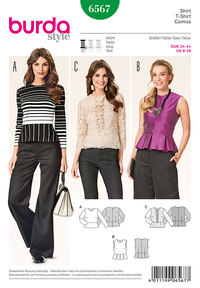 Burda pattern: Blouse and top