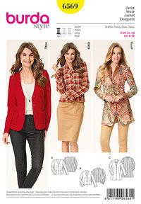 Burda pattern: Jacket -v-neck - collar band