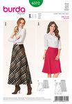 Skirt, bellshaped, hip yoke