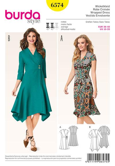 Wrap dress with width