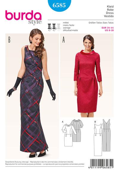 Cocktail dress, narrow evening dress, low waist