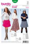 Burda 6586. Skirt with elastic waist.