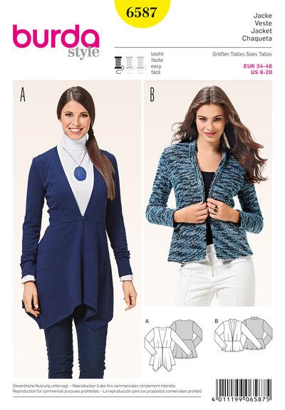 Peplum jacket, v-neckline