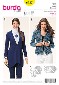 Burda pattern: Peplum jacket, v-neckline