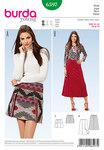 Flared skirt, overskirt panels