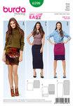 Narrow Jersey Skirt, No Fastening