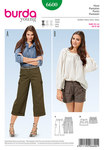 3/4 pants or trousers, shorts, shaped waistband
