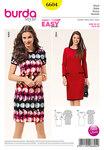 Dress, narrow form, knit band