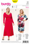 Two great dresses, both are potential new favorites. View A has a bell-shaped skirt and midi length, which is fabulously en vogue. Or choose view B with a narrow skirt which flatteringly covers the knee. The gathers at the side of both styles are an exciting detail which also camouflages a fuller waist.
