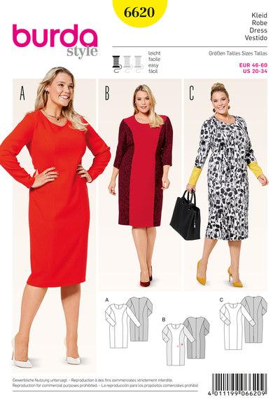 Dress with panel seams